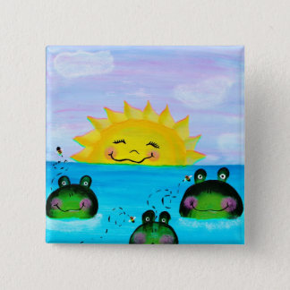 SUNSHINE and Frogs Button