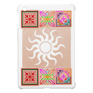 SUNSHINE and Jewels on Golden Embossed Foil Case For The iPad Mini