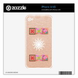 SUNSHINE and Jewels on Golden Embossed Foil Decals For iPhone 4