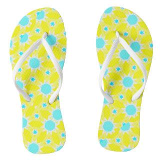Sunshine and Polkadots Flip Flops