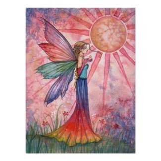 Sunshine and Rainbow Fairy Poster