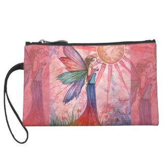 Sunshine and Rainbow Mini Satin Clutch Bag
