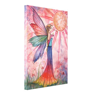 Sunshine and Rainbow wrapped Canvas Print