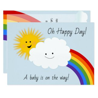 Sunshine and Rainbows Baby Shower Card