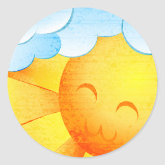 Sunshine and Rainbows Classic Round Sticker