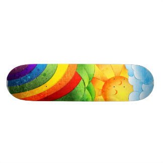 Sunshine and Rainbows Skateboard Deck
