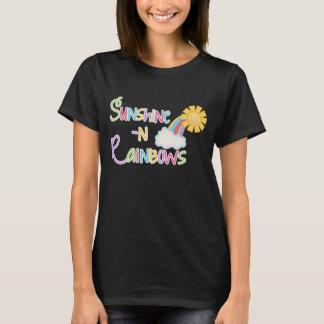 Sunshine and Rainbows word art t-shirt