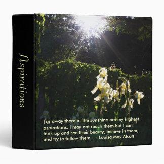 Sunshine Aspirations journal binder