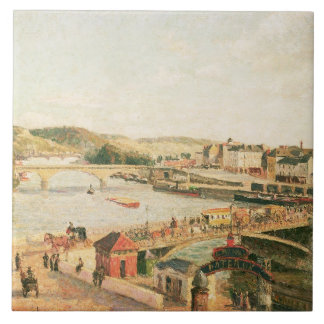 Sunshine at Rouen, 1896 (oil on canvas) Tile