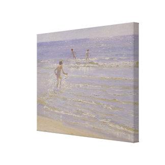 Sunshine at Skagen: Boys Swimming, 1892 Canvas Print
