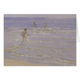 Sunshine at Skagen: Boys Swimming, 1892 Card