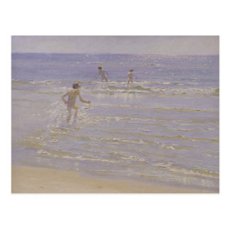 Sunshine at Skagen: Boys Swimming, 1892 Postcard
