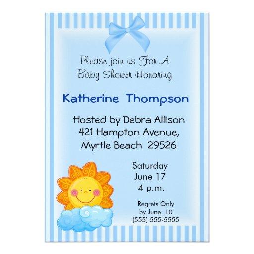 sunshine baby shower invitation zazzle