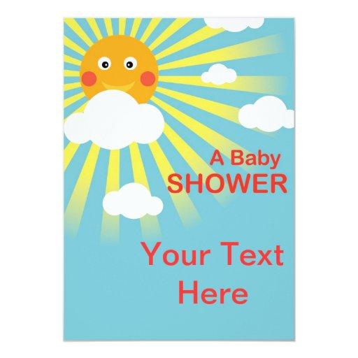 sunshine baby shower invitation card zazzle