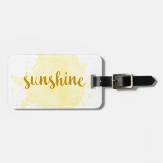 Sunshine Bag Tag