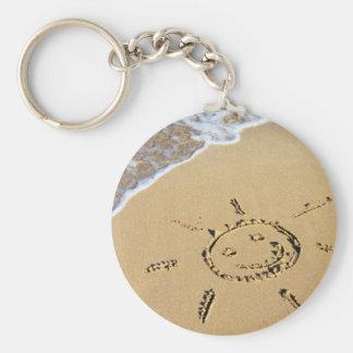 Sunshine Basic Round Button Keychain