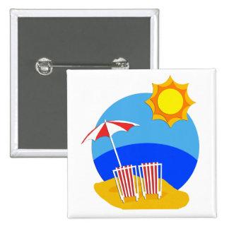 Sunshine Beach Day Pinback Button