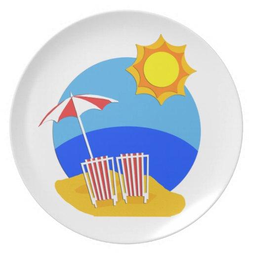 Sunshine Beach Day Plates