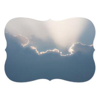 Sunshine behind clouds card