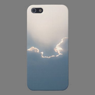 Sunshine behind clouds cases for iPhone 5