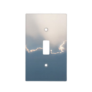 Sunshine behind clouds light switch plate
