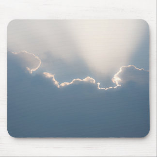 Sunshine behind clouds mouse pad