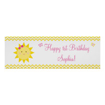Sunshine Birthday Banner You Are My Sunshine Poster