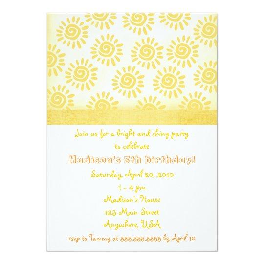 Sunshine Birthday Invitation