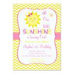 Sunshine Birthday Invitations You Are My Sunshine