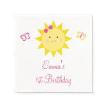 Sunshine Birthday Napkins You Are My Sunshine