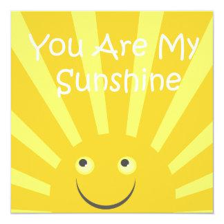 Sunshine Birthday Party Card
