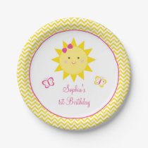 Sunshine Birthday Plates You Are My Sunshine