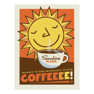Sunshine Blend Coffee Postcard