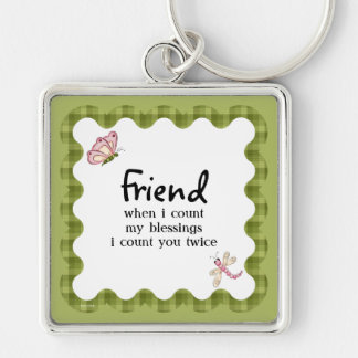 Sunshine Butterfly Friendship Blessings Add Name Keychain