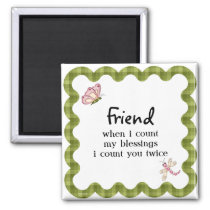 Sunshine Butterfly Friendship Blessings Gift Magnet