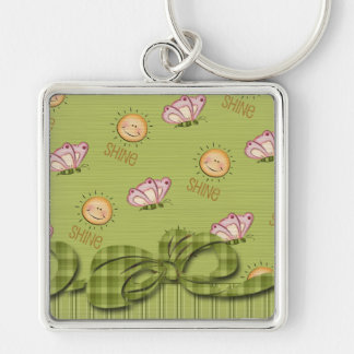 Sunshine Butterfly Friendship Blessings Keychain