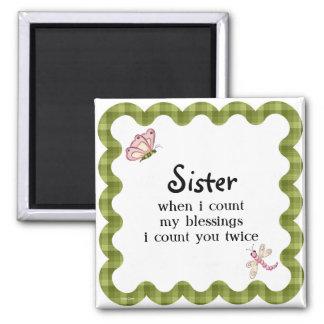 Sunshine Butterfly Sister Blessings Gift Magnet