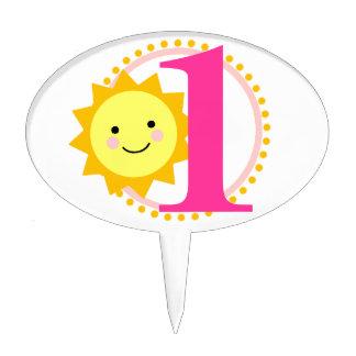 Sunshine Cake Pick - 1st Birthday