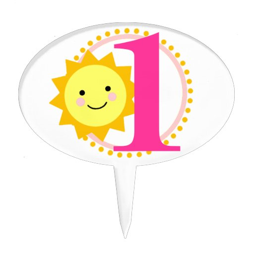 Sunshine Cake Pick - 1st Birthday | Zazzle