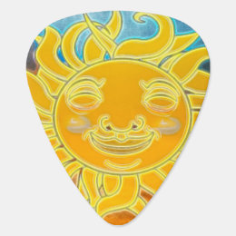 Sunshine Celestial Sun New Age Guitar Pick