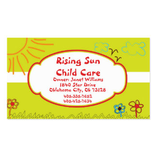 Sunshine Child Care Business Card