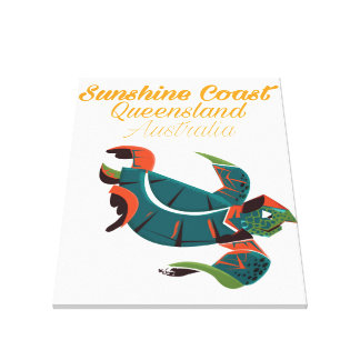 Sunshine Coast Queensland Australia Travel poster Canvas Print