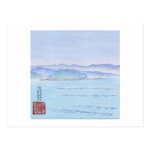 Sunshine Coast Watercolor Post Card