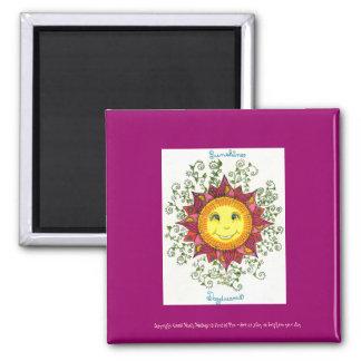 "Sunshine Daydreams - 2"" Sq. Magnet (fuschia)"