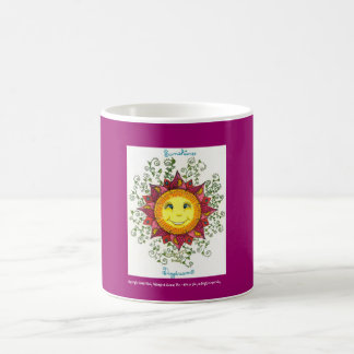 Sunshine Daydreams - Basic Mug (fuschia)
