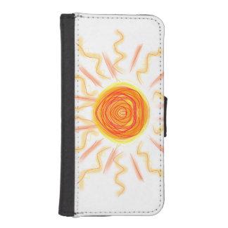 sunshine doodle iPhone SE/5/5s wallet case