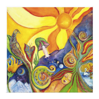 Sunshine Dream Fairy Fantasy Pop Art Lysergia Gallery Wrap Canvas