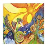 Sunshine Dream Fairy Fantasy Pop Art Vintage Retro Stretched Canvas Print