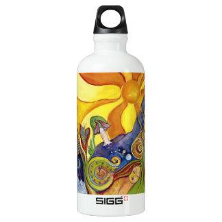 Sunshine Dream Garden Of Delights Art Aluminum Water Bottle