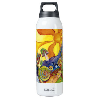 Sunshine Dream Garden Of Delights Art 16 Oz Insulated SIGG Thermos Water Bottle